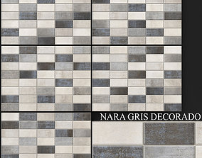 3D model Keros Decorado Nara Gris