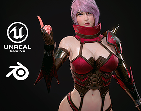 Warrior Ninja - Unreal Game Ready Model 3D asset
