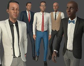 Modular Business man 3D model