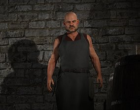Fantasy Tavern Butcher - Fantasy Clothing 3D model