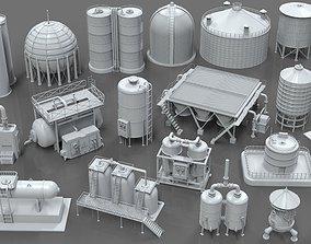 Industrial Tanks - part - 1 - 20 pieces 3D