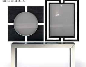 3D Bernhardt Decorage Console and Mirror
