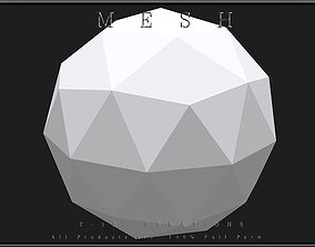 Icosphere Object 3D asset