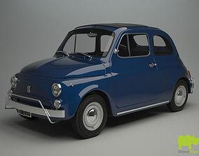 Fiat 500 L 1970 3D Model antique