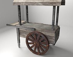 Old Food Cart 3D model