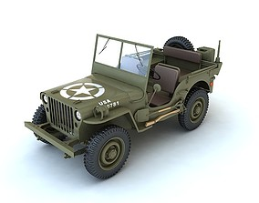Willys MB 3D model us