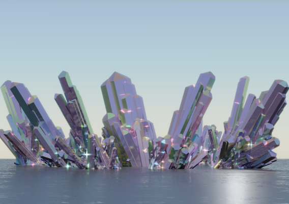 Iridescent crystals