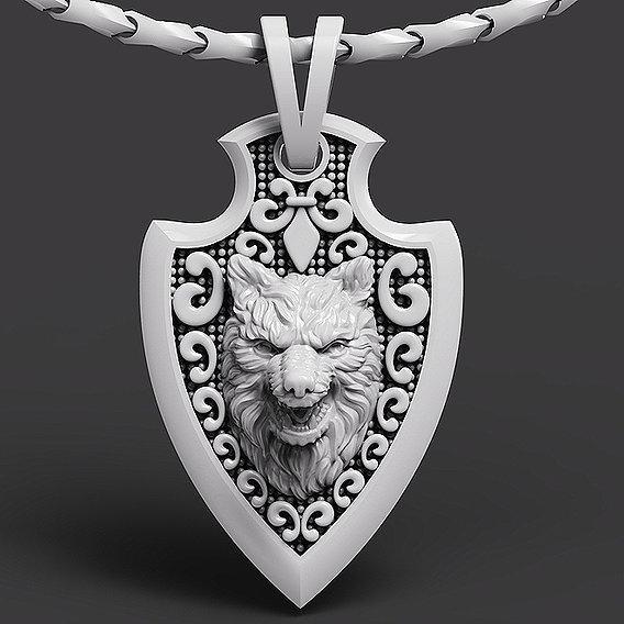 fashion Wolf Pendant