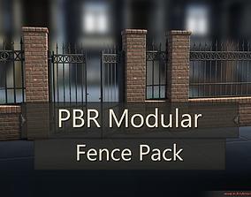 3D model PBR Modular Fence Pack