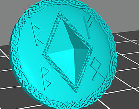 3D print model Wolf marine style viking shield with 4