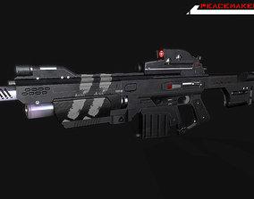 3D model Lowpoly Sci fi Rifle Peacemaker