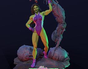 The Sensational She-Hulk V2 3D print model marvel