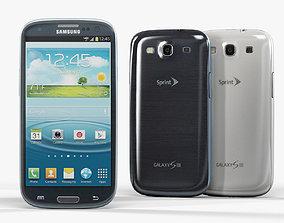 3D asset low-poly Samsung Galaxy Sprint S III