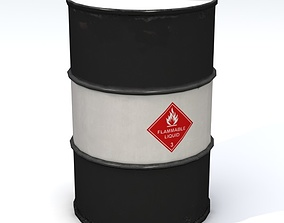 Flammable 55 Gallon Drum 3D