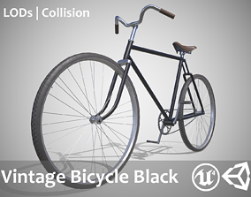 3D model Vintage Bicycle Black - Updated for 2021