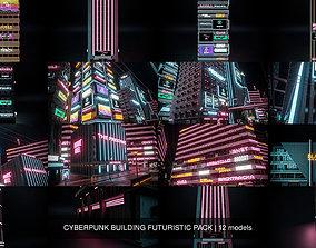 3D model CYBERPUNK BUILDING FUTURISTIC PACK