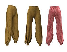 3D model Pants Yoga Royal