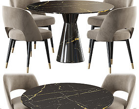 Eichholtz table Turner chair Cliff 3D