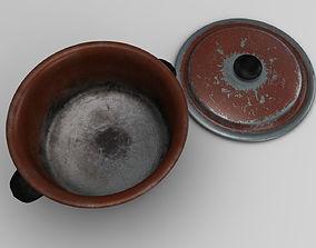 Rusty cooking pot - PBR Game-Ready 3D asset