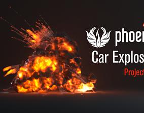 3D model Phoenix FD Car Explosion ProjectFile