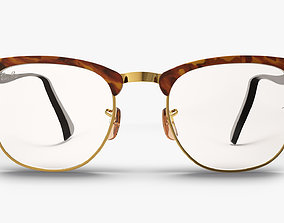 Tortoise Ray-Ban Clubmaster Eyeglasses 3D