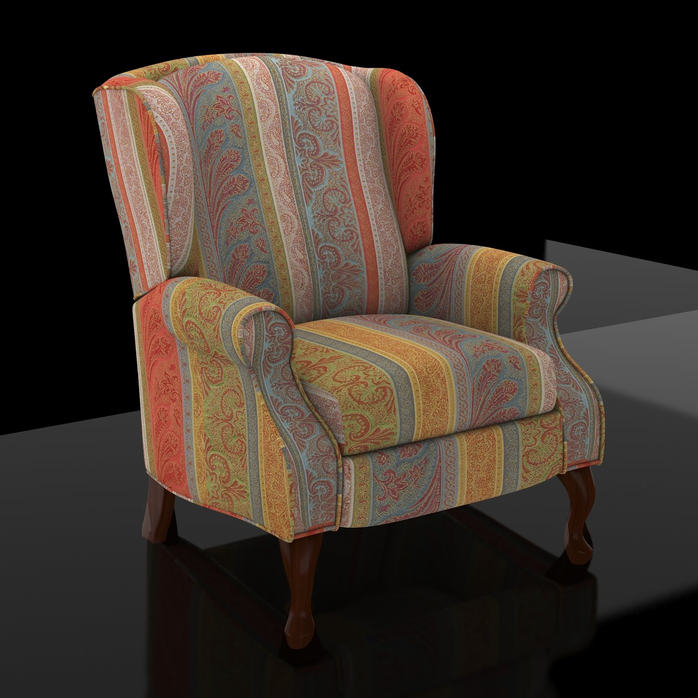 Sofa-with-striped-fabric-Design-Materials-Lights-Rendering-3DSMAX-VrayNext
