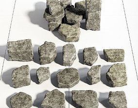 Rock stone collection 3D