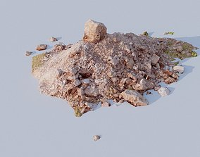 Scanned pile of dirt 3D model game-ready