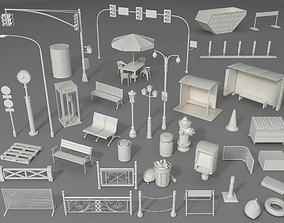 3D Street Elements - Part - 2 - 39 pieces