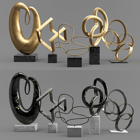 Abstract Sculptures Set