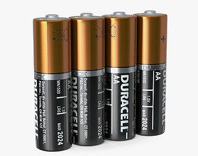 3D AA Duracell CopperTop Alkaline Four Batteries