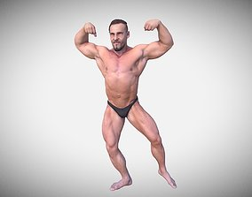 Bodybuilder 3D model VR / AR ready