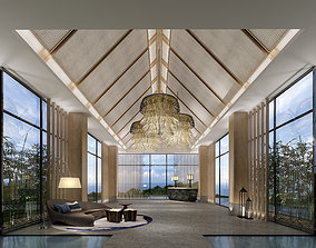 chinese hotel lobby 3D