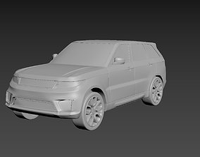 Range Rover Sport 2020 on a small scale 3D printable model
