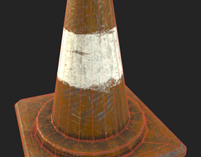 GAME-READY STREET CONE 3D asset