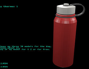 Low poly thermos 2 3D asset