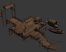 ancient asian wharf 3D model