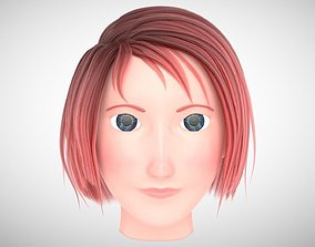 Character Head with Hair 3D model
