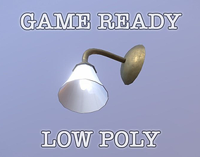 3D model Wall Lamp low poly game ready