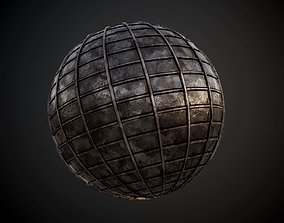 3D model Metal Rusted Plate Seamless PBR Texture