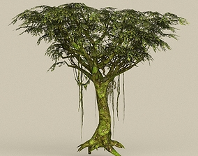 3D asset realtime Game Ready Tree 24