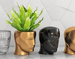 3D print model Oscar head piggy bank vase