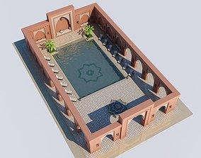 Moroccan Pool Marrakech 3D