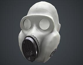 3D asset PBF Homyak USSR gas mask white