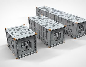 sci fi Cargo Container 1 3D model environment
