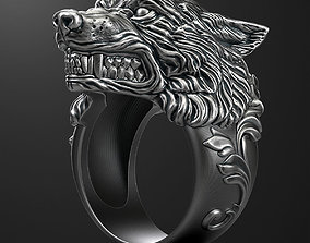 Wolf ring 3D printable model