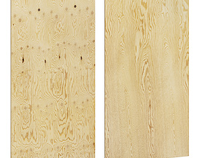 Plywood sheet for floor or wall 3D asset
