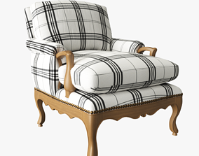 Provence Bergere Chair 3D model