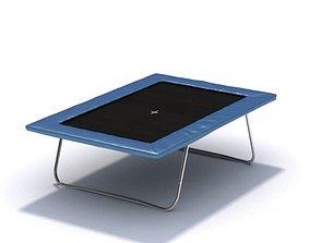 3D Black And Blue Trampoline