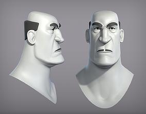 Cartoon male character Carlo base mesh 3D